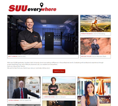 SUU to Everywhere front page